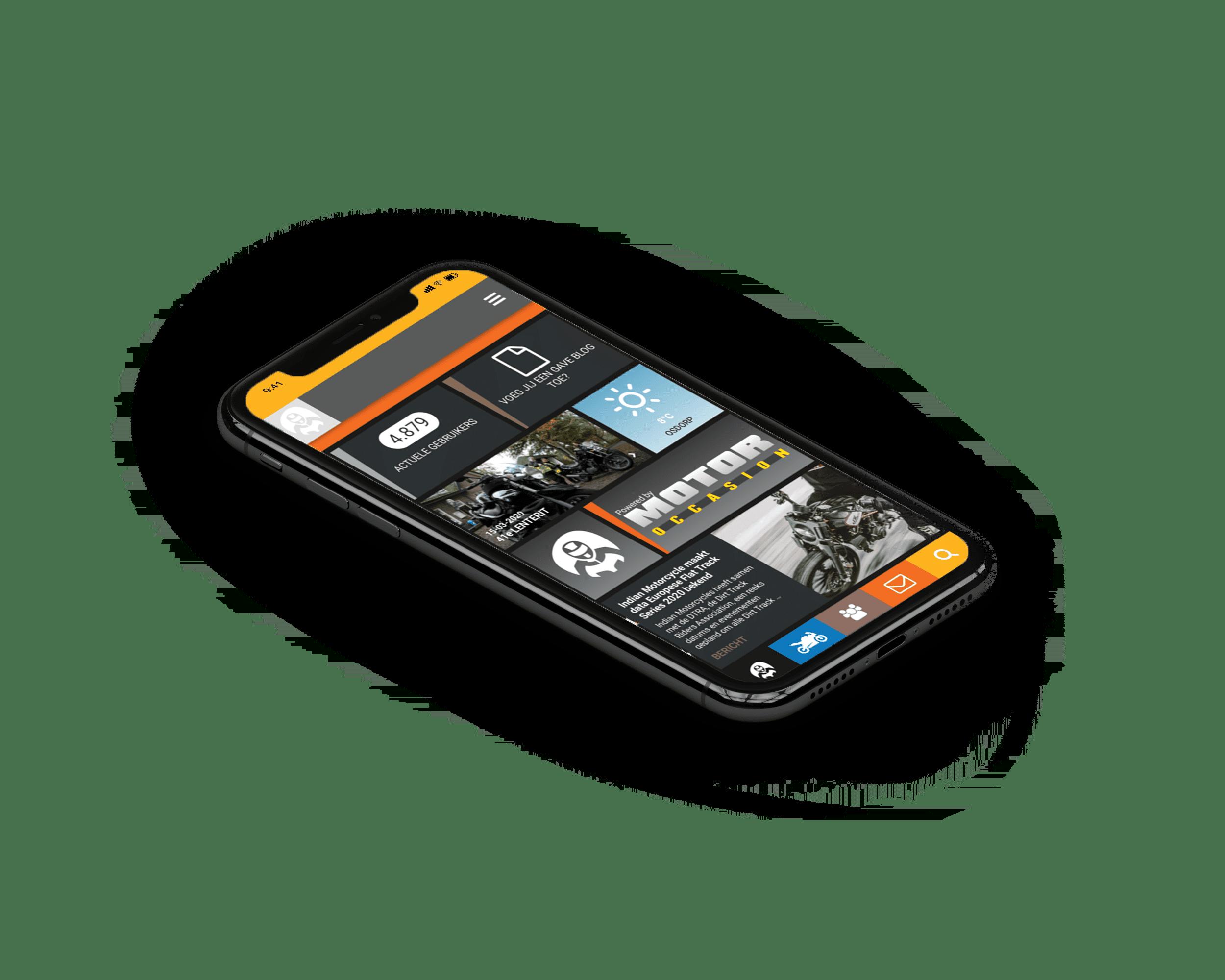 community app voor de mobiel