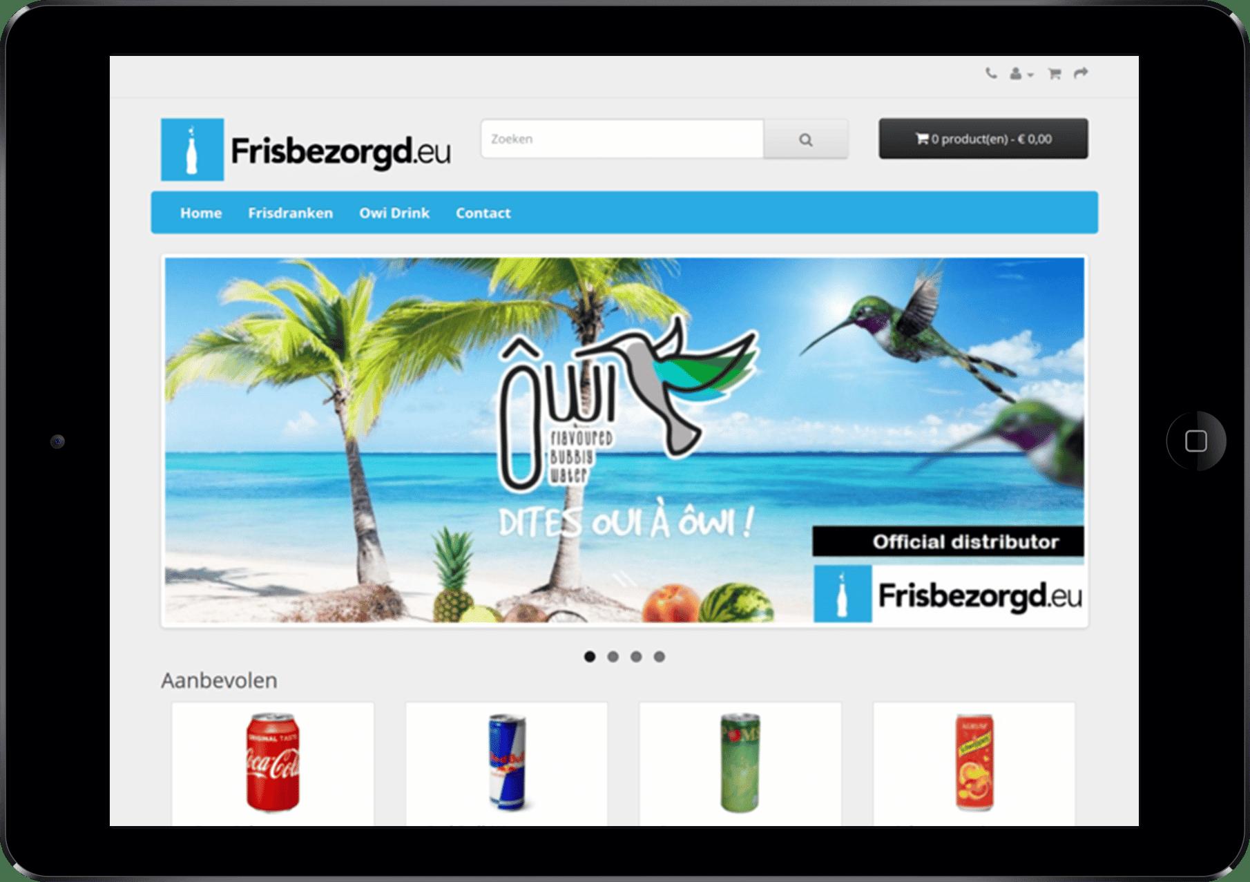 webshop in app vorm voor tablet en ipad laten ontwikkelen