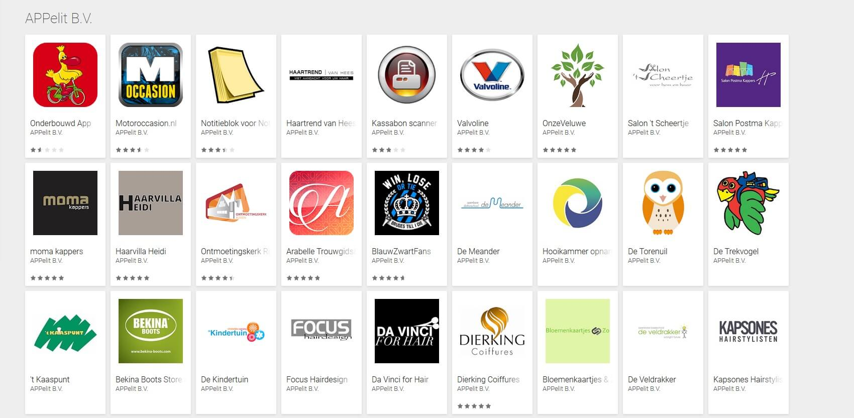 android apps voorbeelden playstore