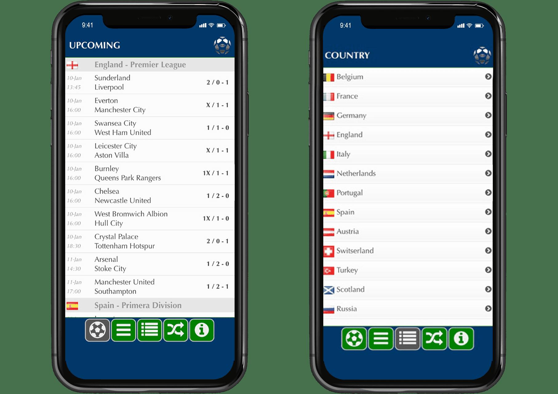 voetbaluitslag voorspellen via de app
