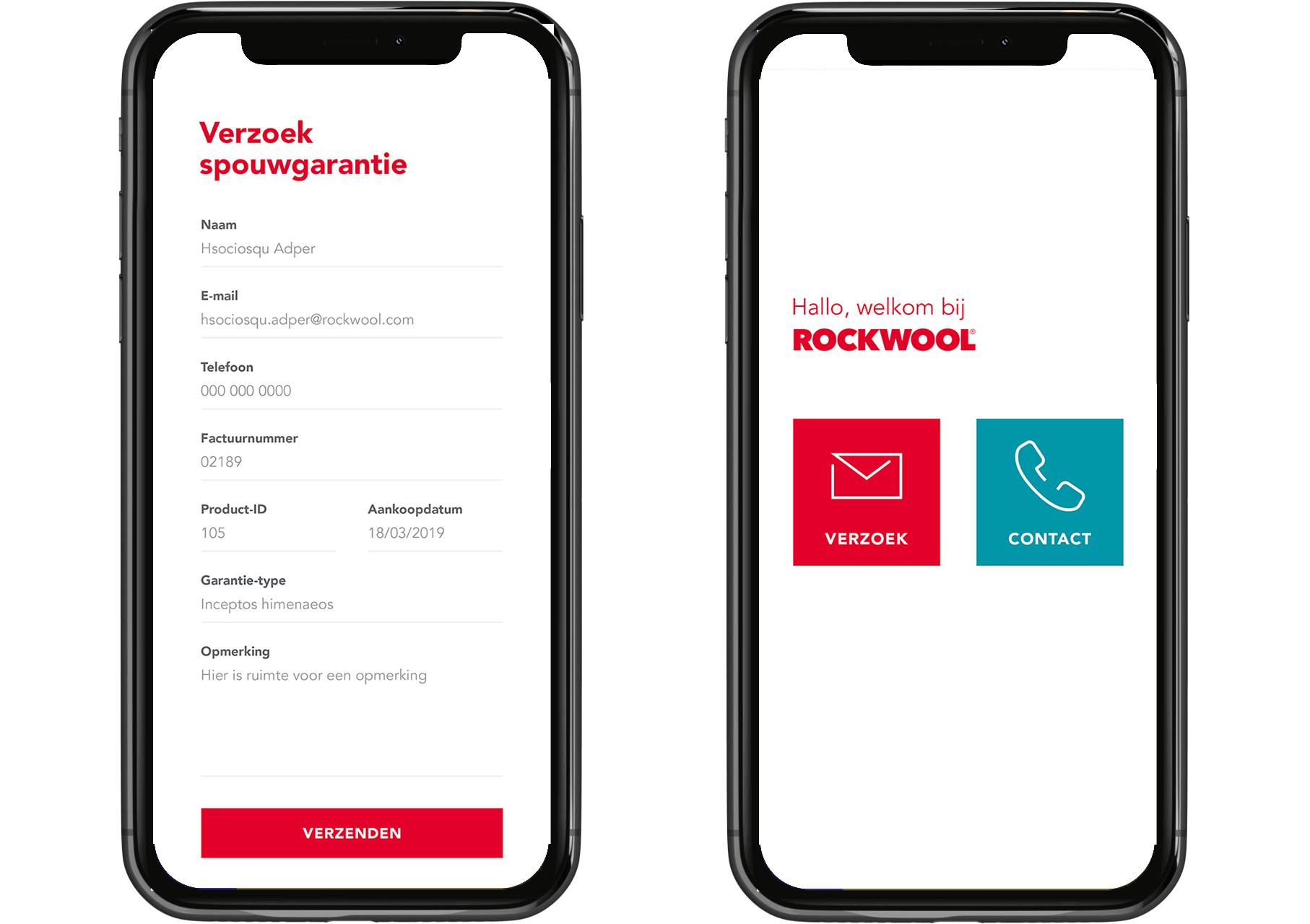 Rockwool applicatie