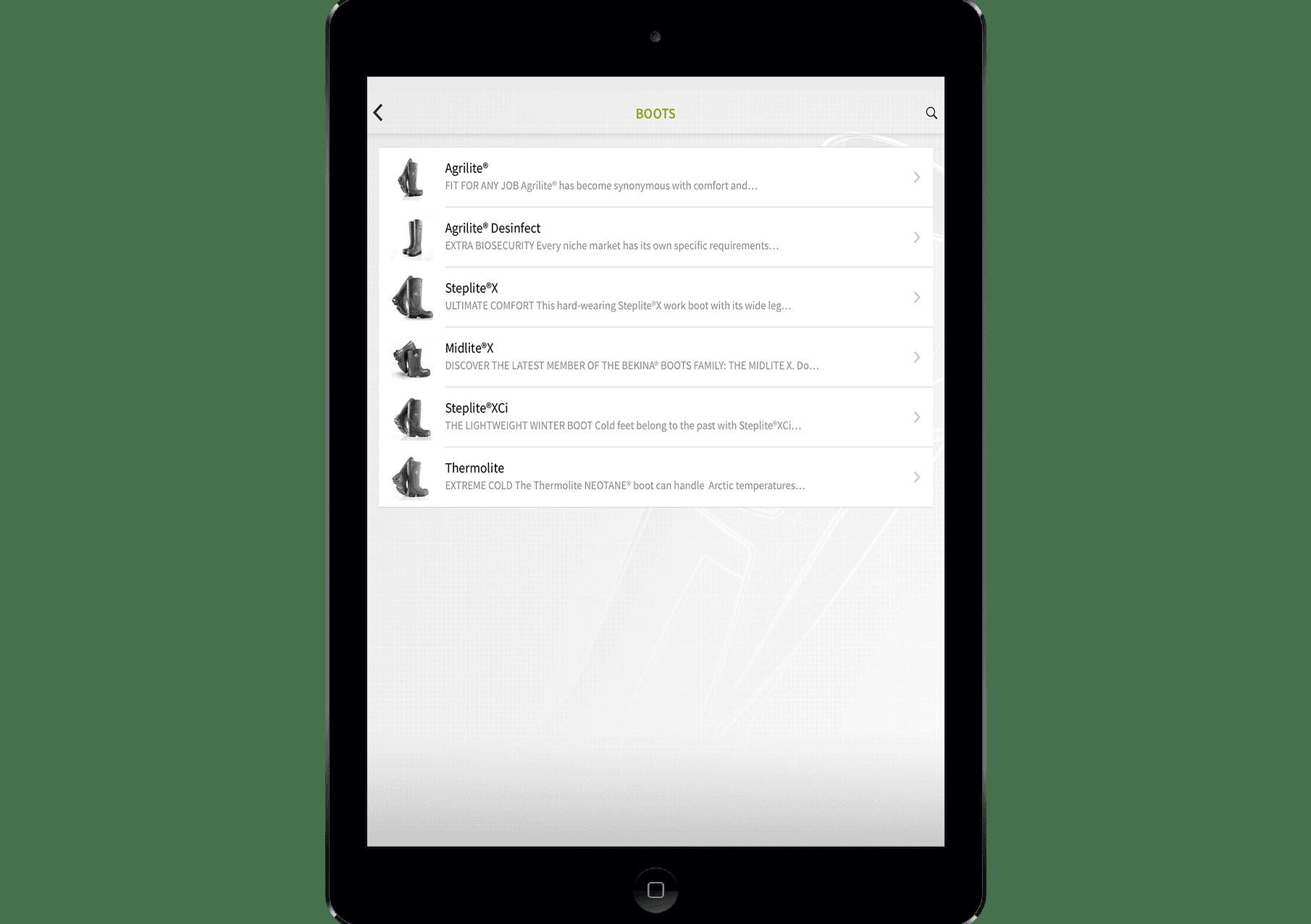 store locator app voor bekina boots