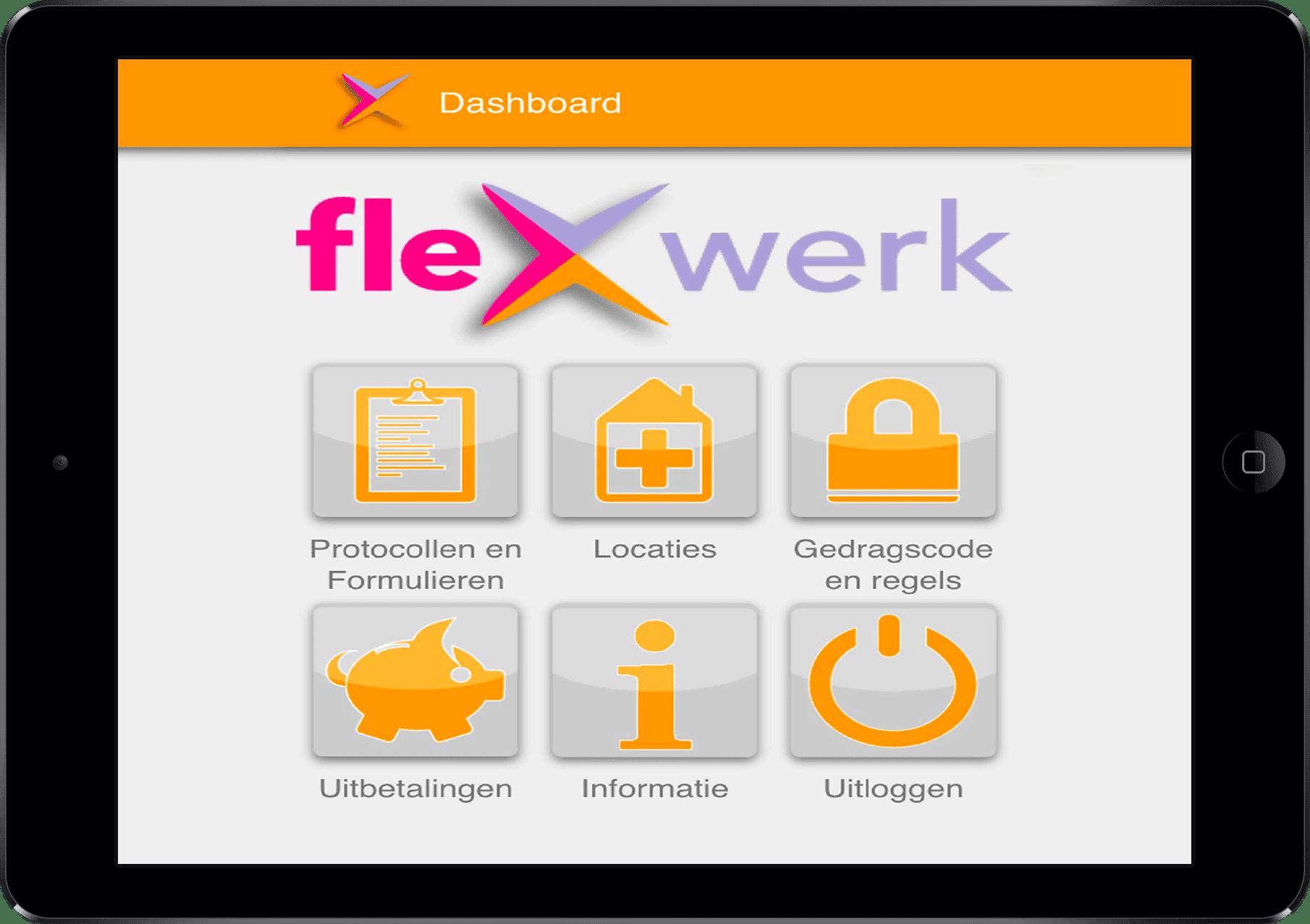 flexwerk app voor tablet