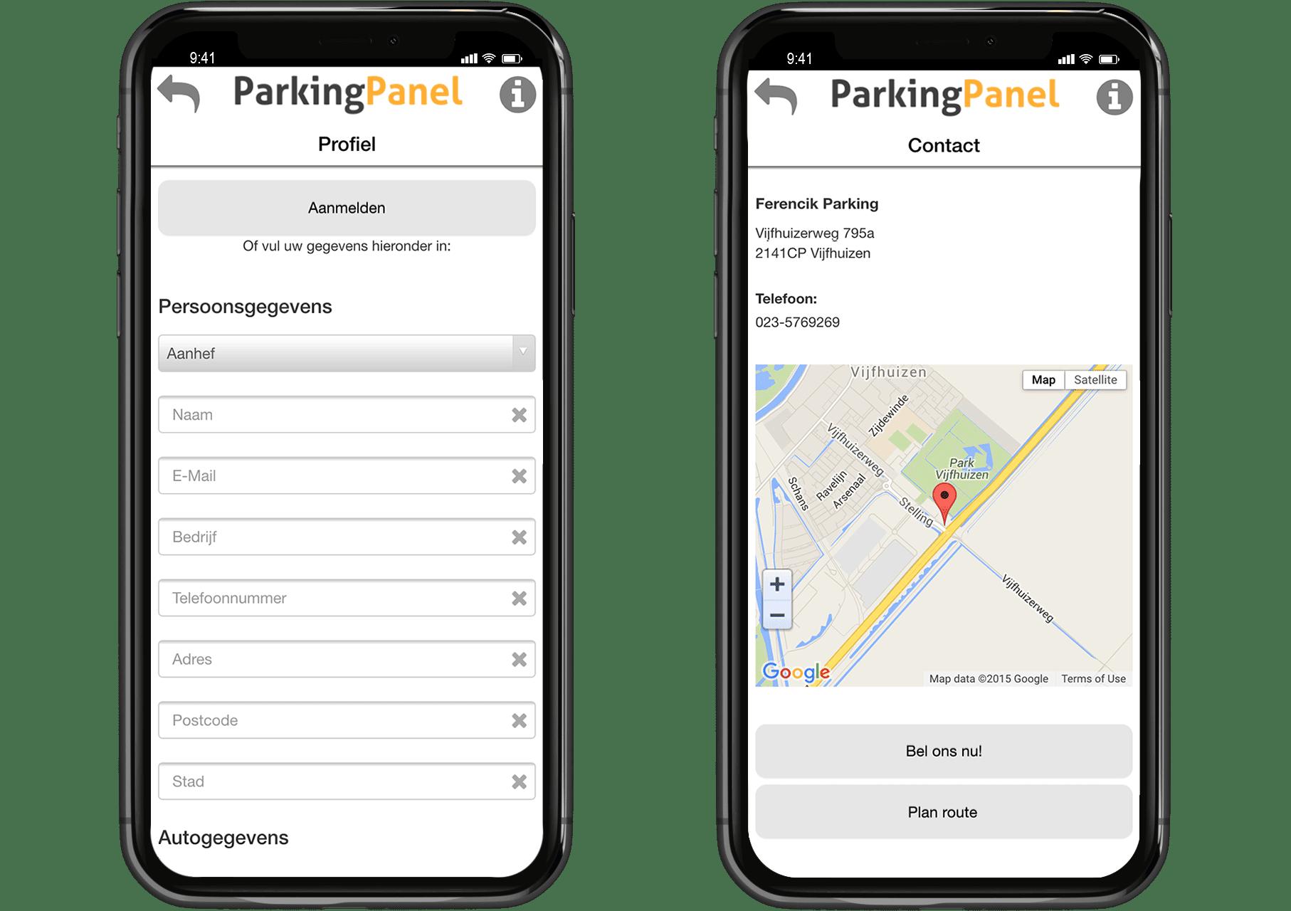 parkeerpanel app