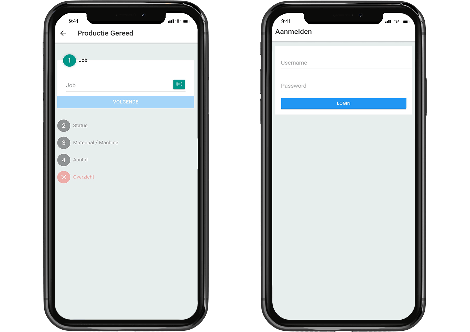 planning beheren via de app