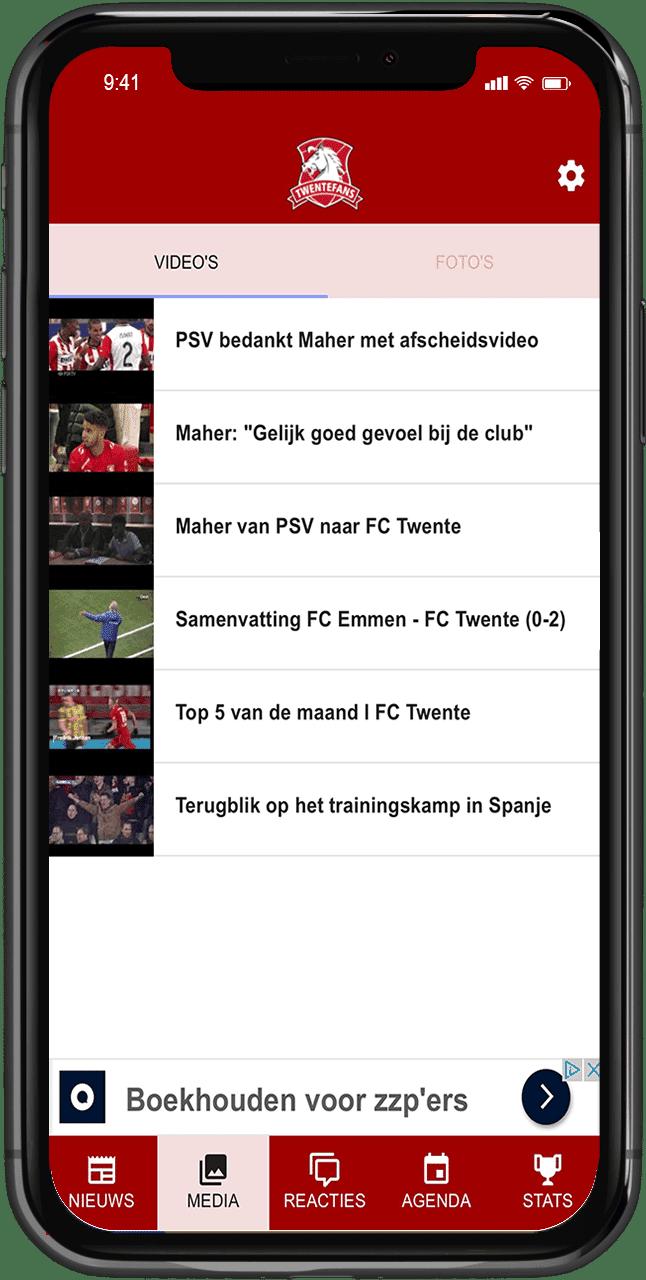 voetbalnieuws app