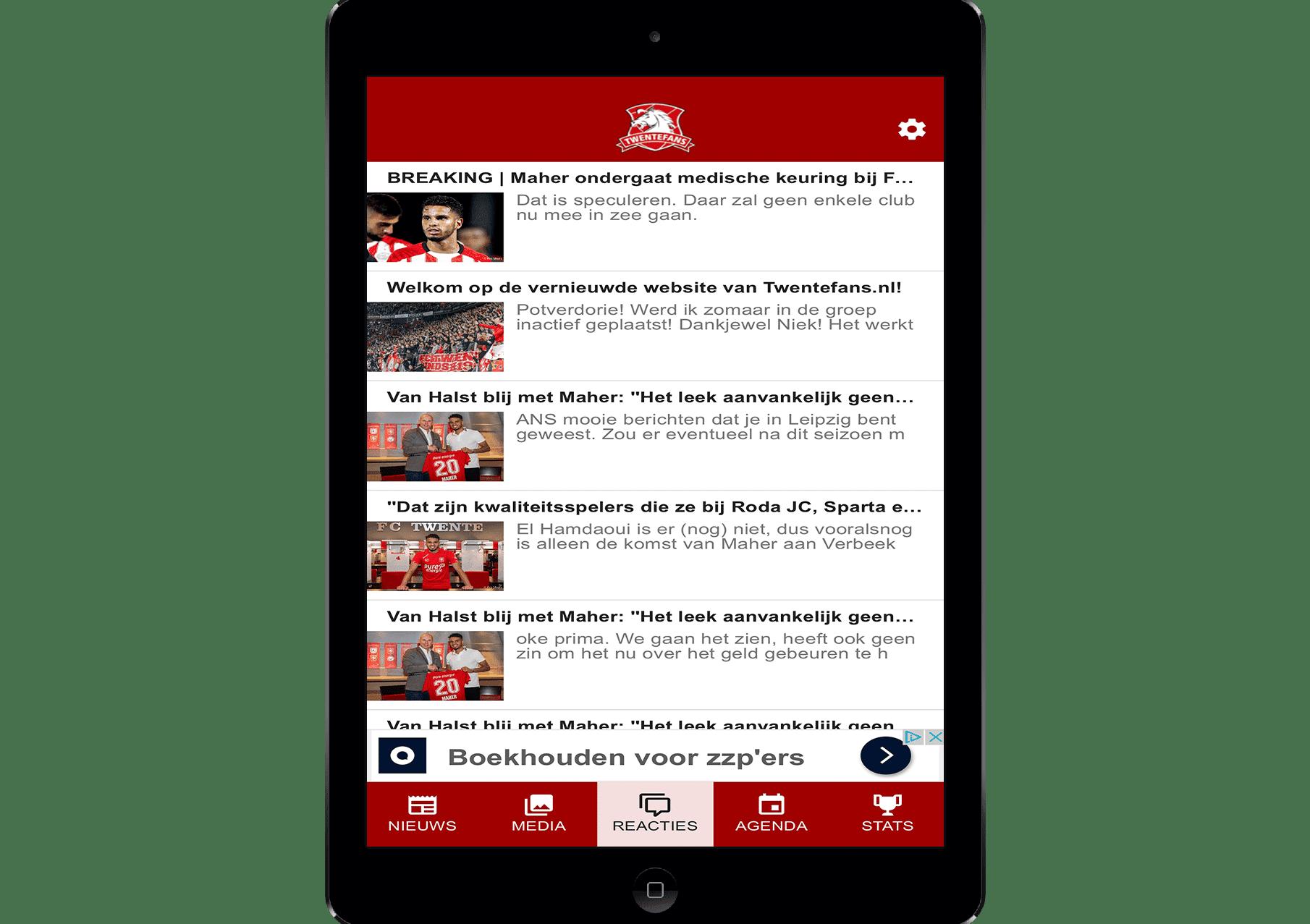 twente nieuws via de tablet app