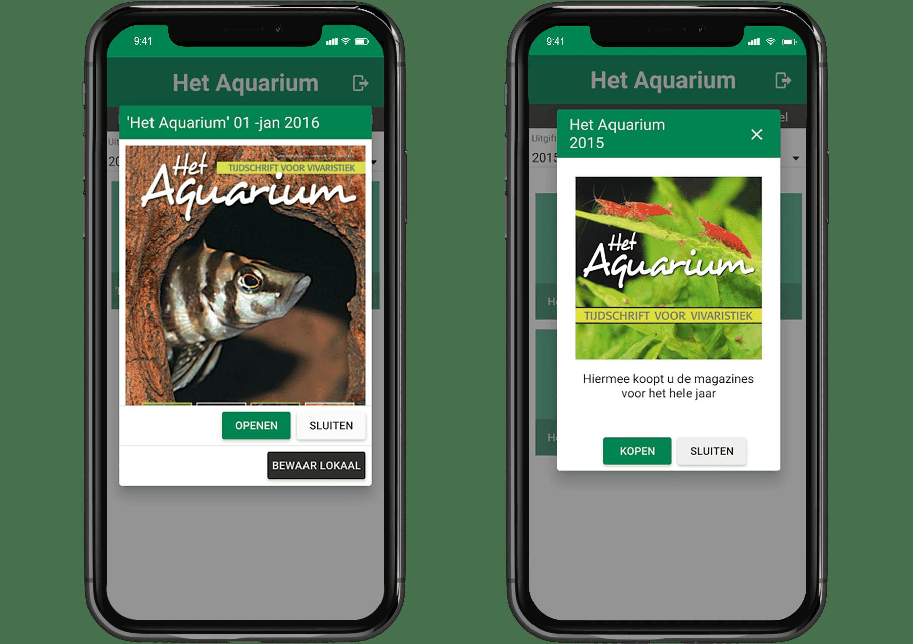 aquarium magazine op je mobiel