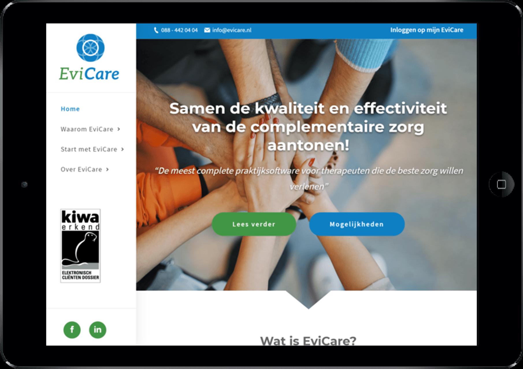 evicare app voor tablets