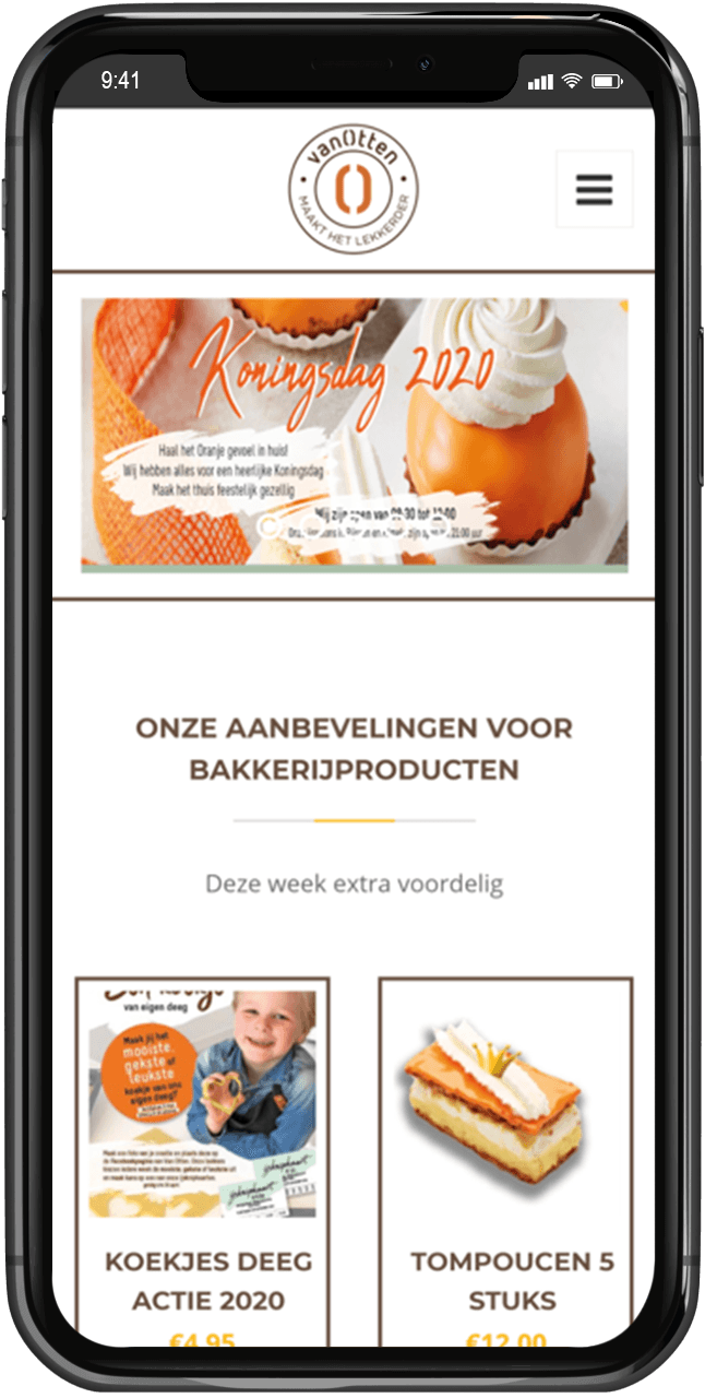 online brood bestellen via de app