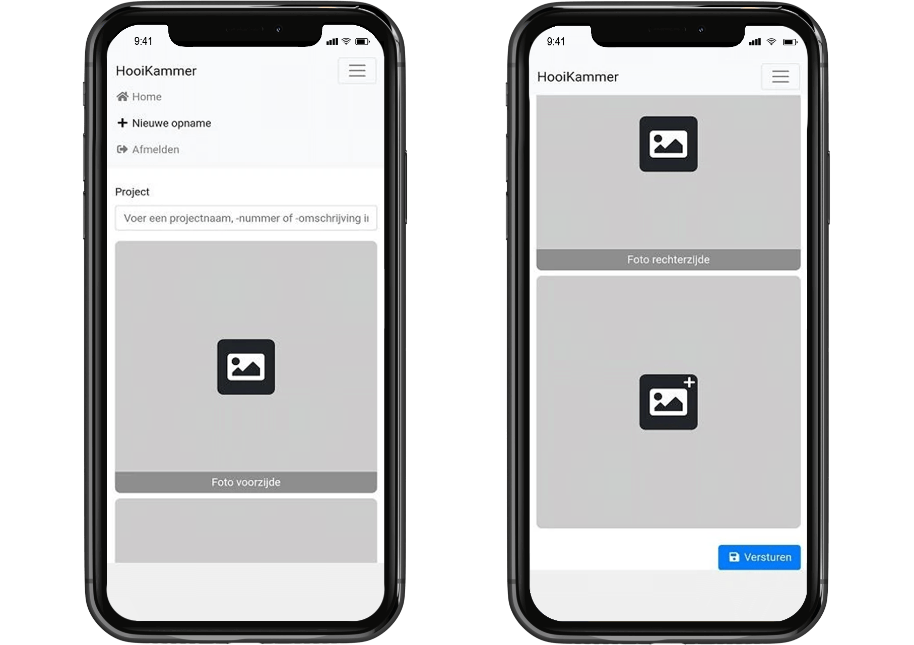 Autoberging app mobiel