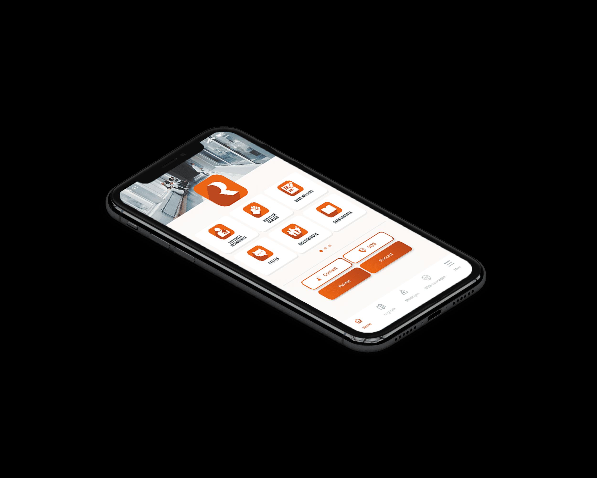 report app voor ongewenste intimiatie