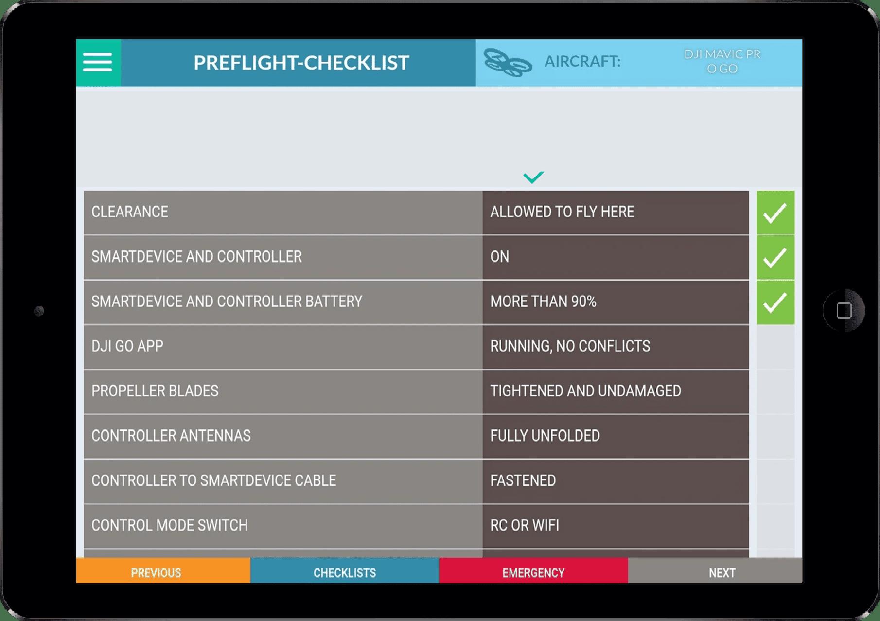 drone bedienen met tablet
