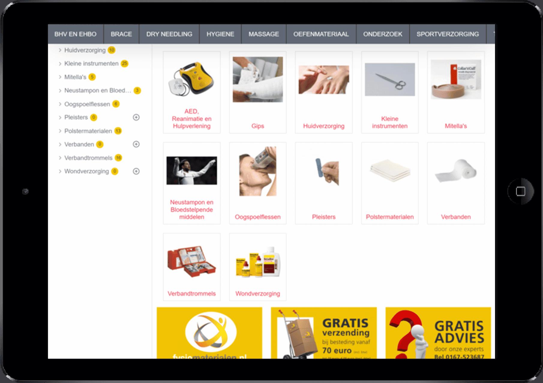 fysiomaterialen online bestellen