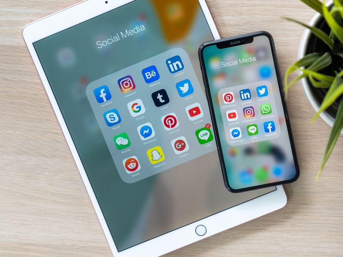 social media apps op iphone en ipad